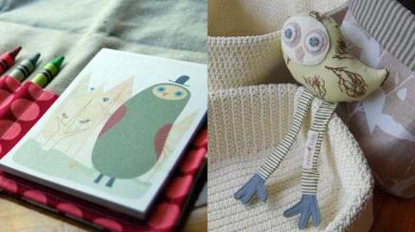 Evie Lala pad and owl