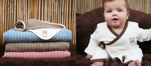 Babyjo striped blankets and bamboo kimono pyjamas