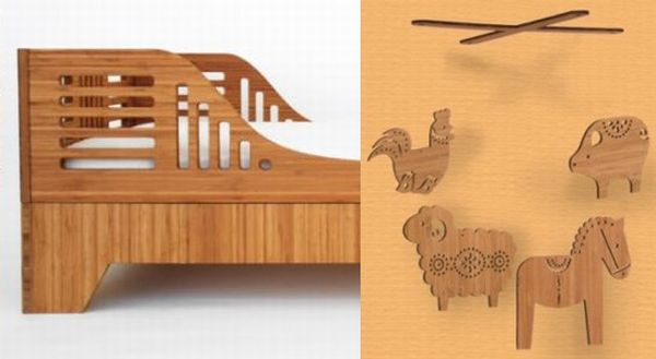 petit collage bamboo mobile and kalon designs bamboo toddler bed