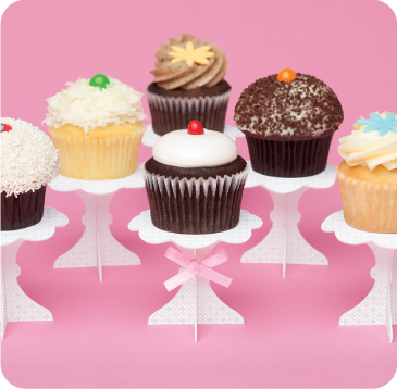 recycled paper cupcake stand
