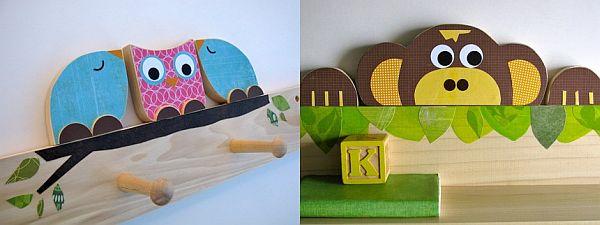 Maple Shade Kids Peg rack and shelf