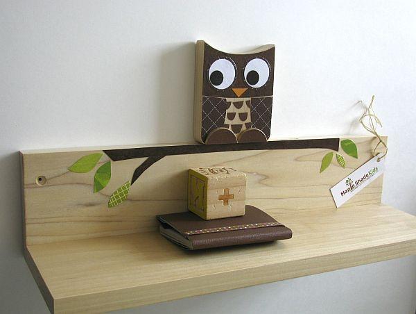 Maple Shade Kids Owl Shelf