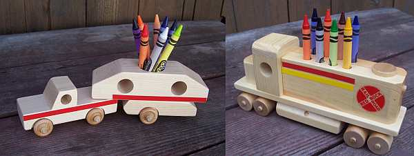 Jim Penner crayon holders