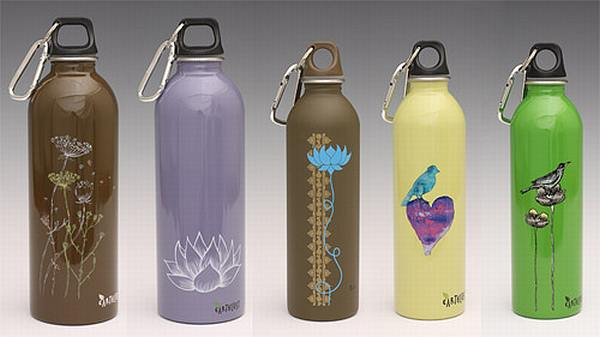 Earthlust stainless steel drink bottles
