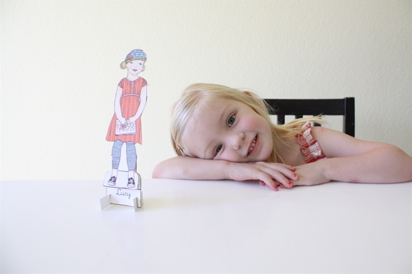 Mini Me paper dolls by Lily & Thistle