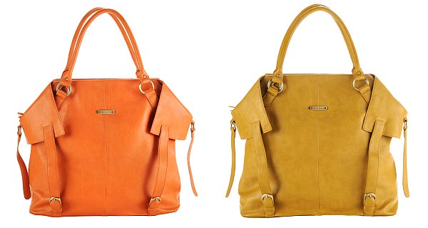 Timi and Leslie Bags in tangerine and mustard