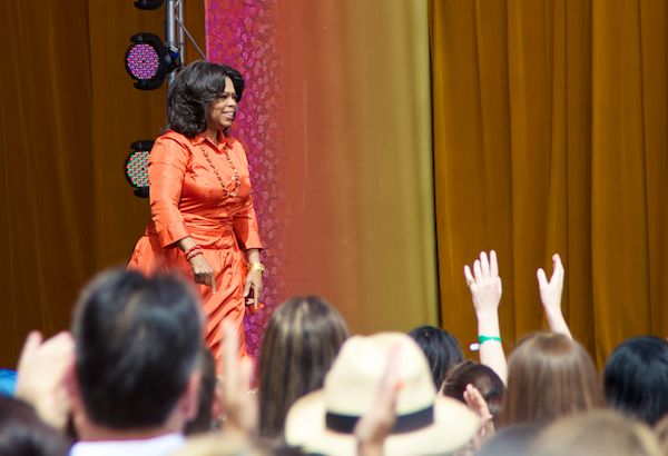 Oprah on stage in Sydney Australia