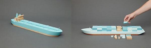 Wooden Giants cargo boats Papa Foxtrot