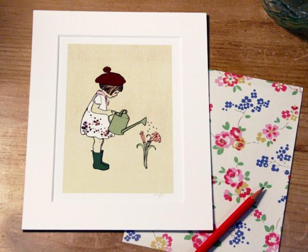 Art print, nursery, wall decoration, illustration