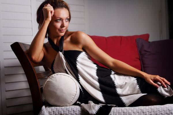 Stephanie Schell Maternity wrap top