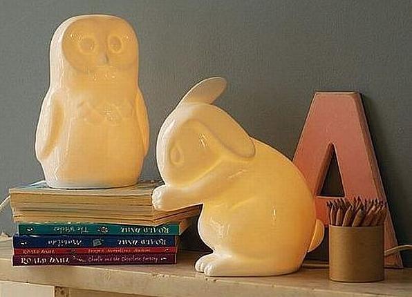animal nightlights by white rabbit england