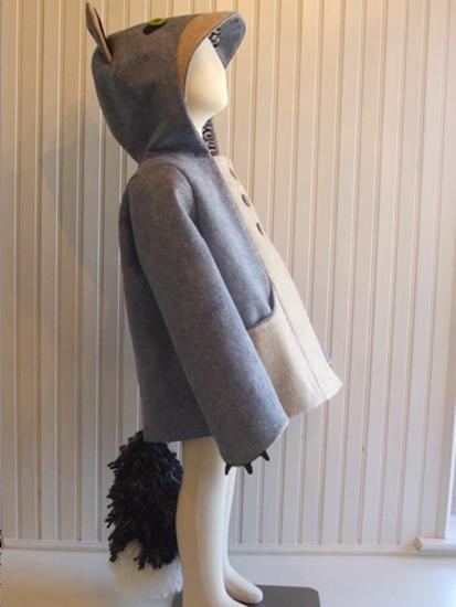 fantastic little grey fox animal costume