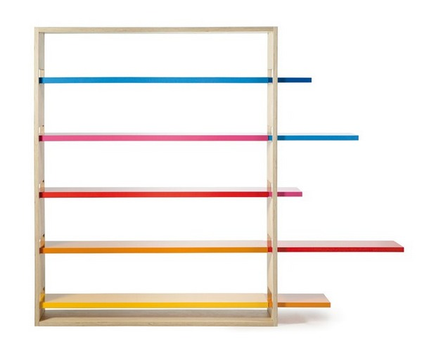 colourful colorful bookcase
