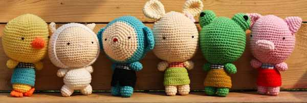 2 Cute 2 Be True crocheted toys