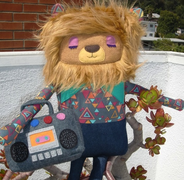 hand made plush lion