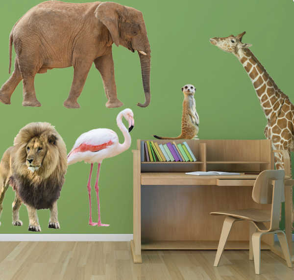 wallsticker1, zoo animal wall decals