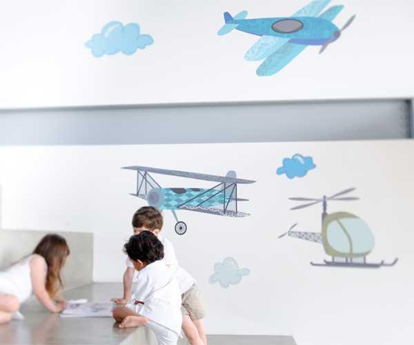 poplollidecal. aeroplane wall decals