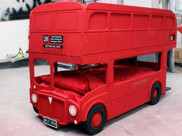 kids childrens beds, London double decker bus bunk