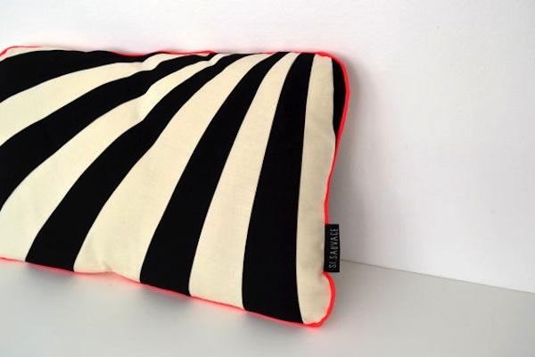 modern cushion black and white