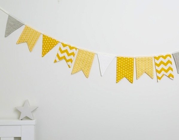Wholehearted Designs Bunting, yellow bunting