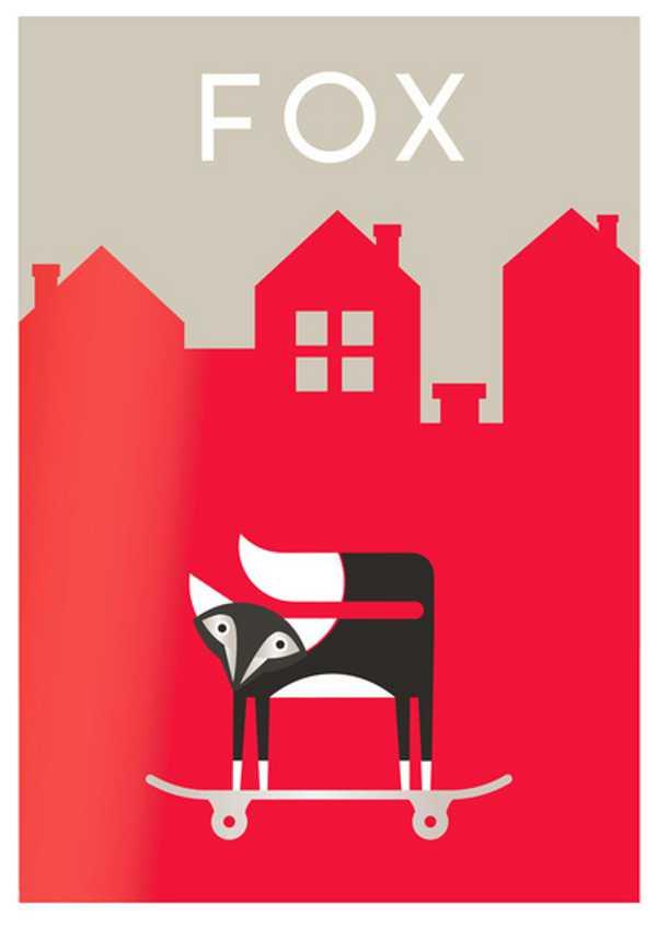 walllab4, fox print