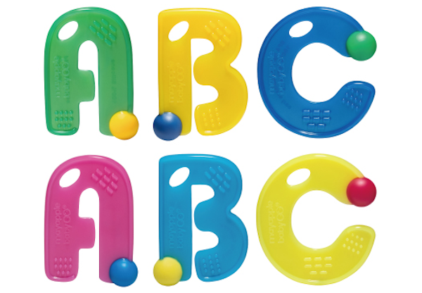 Letter teething toy