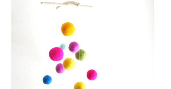 mobile felt ball