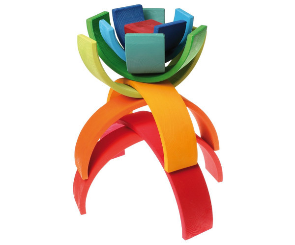 Grimm's extra large wooden stacking rainbow