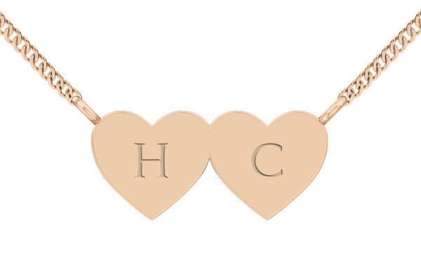 StyleRocks Joined Hearts necklace rose gold