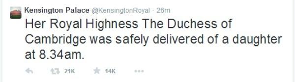 royal baby tweet