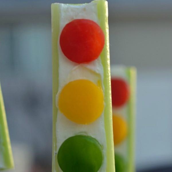 snacks stoplight celery