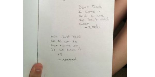 fatherday card ash