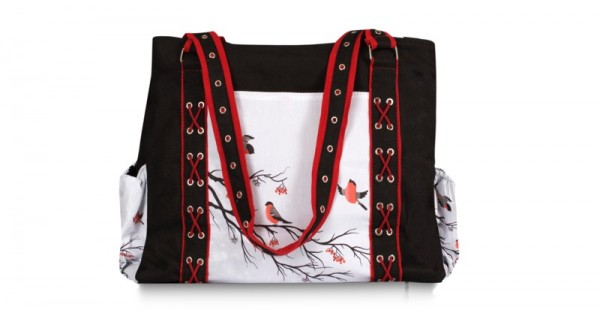 Chele and Maye red robin nappy bag