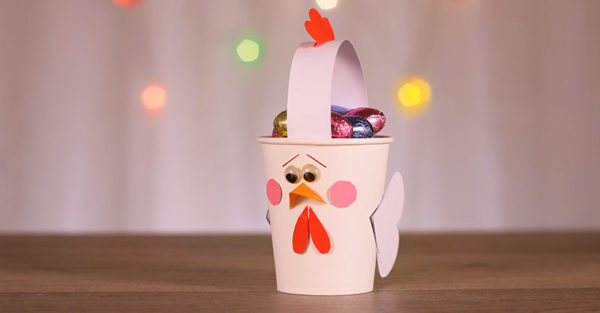 How to make a rooster Easter cup