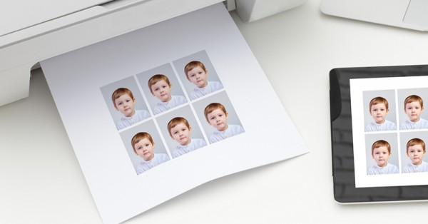 Aus Post printed passport photos