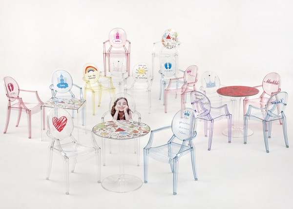Kartell Starck ghost chairs
