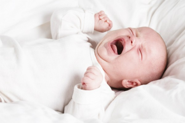 baby newborn crying bed sleep screaming stock sl