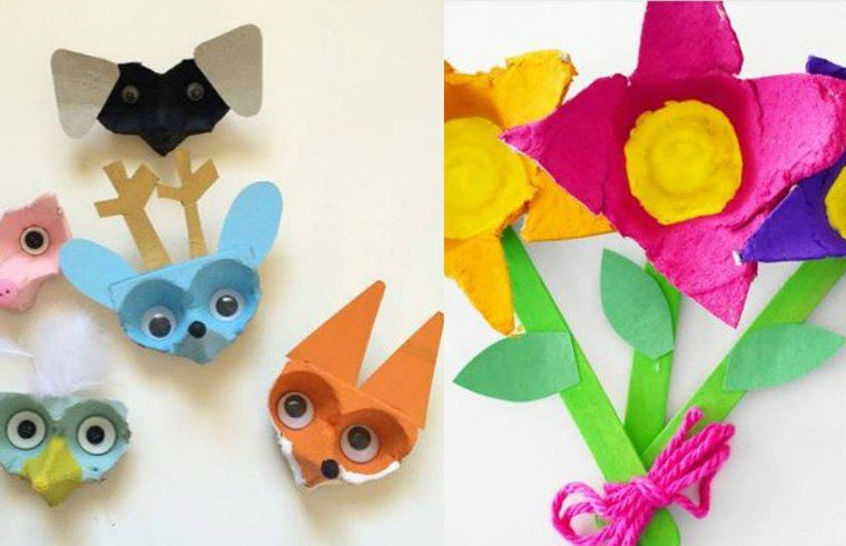 Fun egg carton crafts for kids