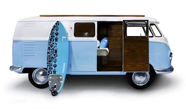 bun van with board