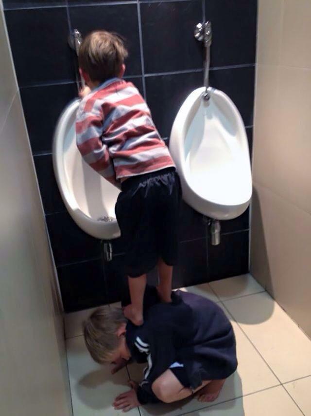 sibling urinal