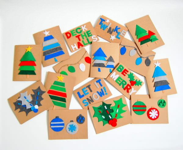 Easy Christmas Cards For Kids.10 Easy Christmas Cards You Can Make With Your Kids