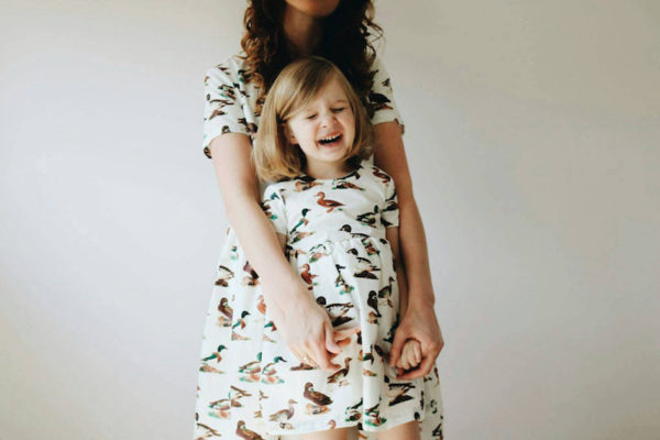 Mum and daughter matching dresses