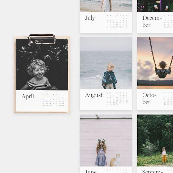 Personalised wooden photo calendar