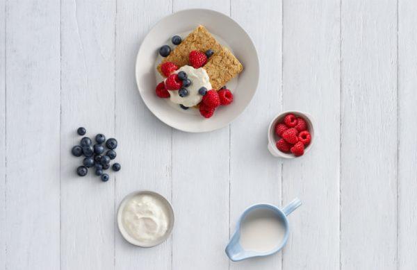 Weetbix berries and yoghurt