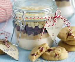 Cranberry and white chocolate cookies Christmas recipe