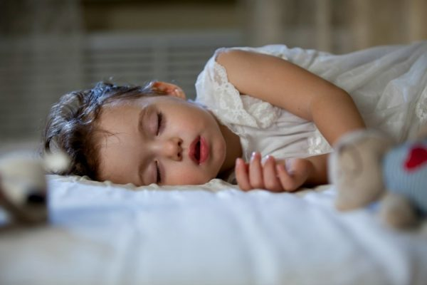 Little girl sleeping peacefully