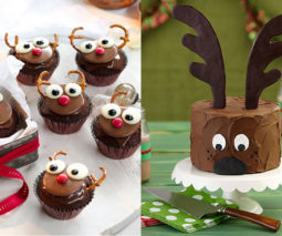 Reindeer Christmas cakes - feature