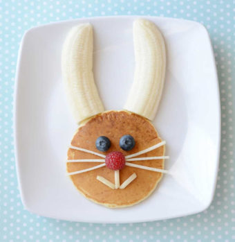 Easter Bunny pancakes by Hello Wonderful