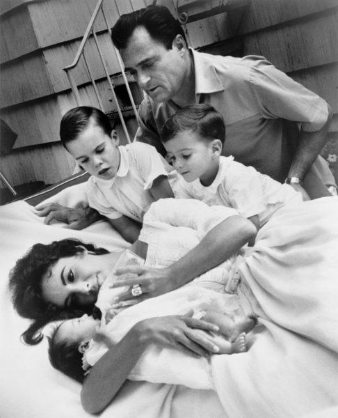 Elizabeth Taylor and children