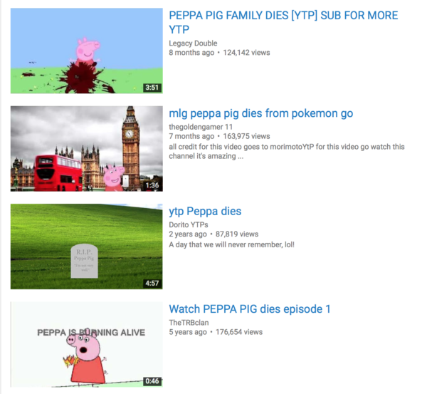 Distressing, fake Peppa Pig videos on YouTube target